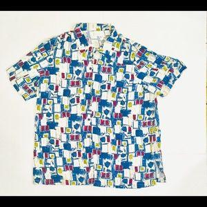 Vintage Liz Claiborne 90s Tunic Button Up Blouse